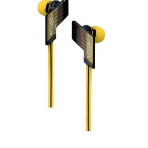 EARPHONE SPORTS WIRE MIC YELLOW