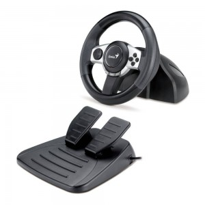Genius Trio Racer F1 Racing Wheel for PC, PS3 and Wii Games