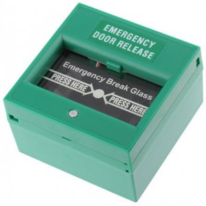 RS Pro Green Break Glass Fire Alarm Call Point Emergency Release Call Point, 85 x 85 x 51mm