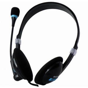 HEADSET WIRE MIC COMPACT BLACK
