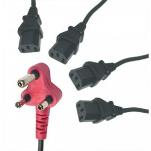 4 Head Power Cable 4.8M -Dedicated with Surge Protection
