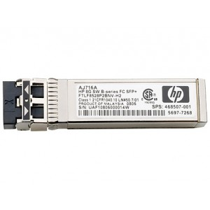 HP 8Gb Shortwave B-series Fibre Channel 1 Pack SFP+ Transceiver