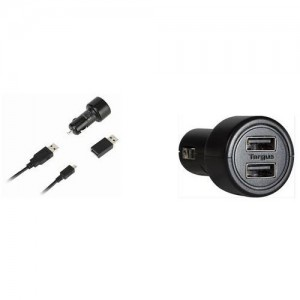 Dell Targus Dual USB DC Charger for Dell Tablets
