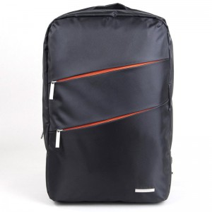 Kingsons - 15.6 Laptop Backpack, Arrow Series, Nylon - Black