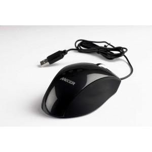 Mecer MM-U03BK USB Optical Wheel Mouse - Black