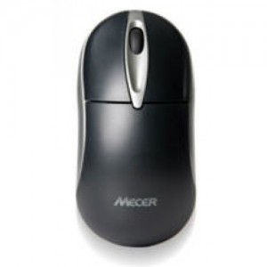 Mecer Optical Wheel PS2 Mouse - Ivory / Black