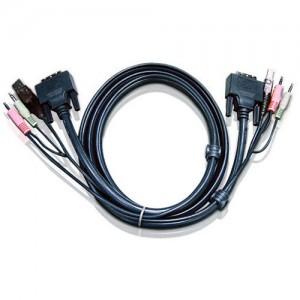 ATEN 1,8M DVI-D MALE&USB A TYPE CABLE
