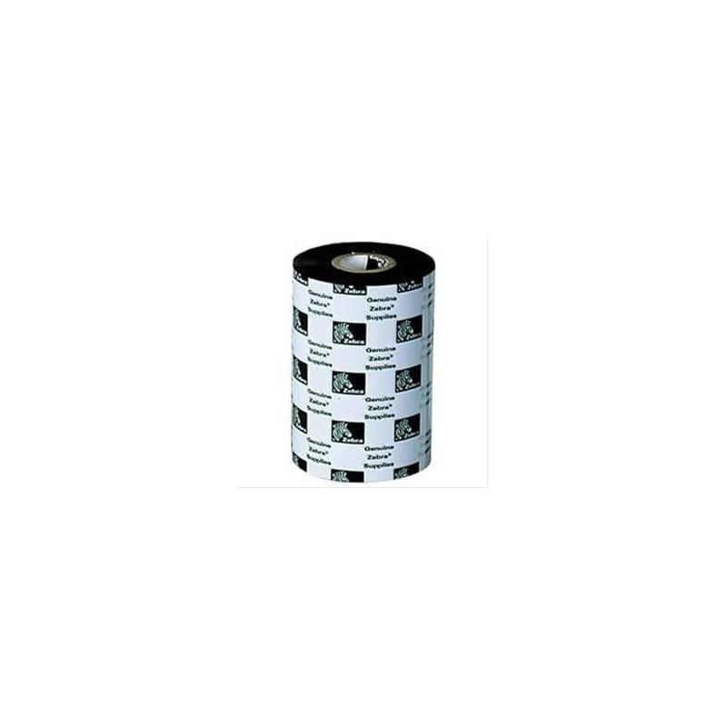 Zebra-GK420T Wax Ribbon for Desktop Label Printers, 110mmx74m, 2300, Standard, 12mm core, 12/box