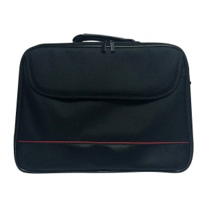 Volkano - Industrial Series Shoulder Bag 15.6, Zippered Side Compartment, Trolley Strap, Reinforced Side Walls, Black