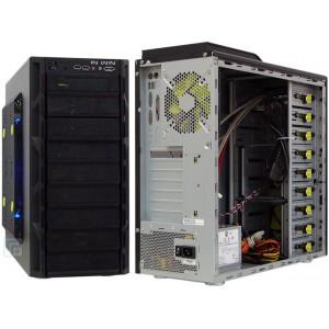 "Mecer Graphite MIDI ATX Tower + 600W EPS 2.2 (SABS) W/Front Audio, USB & 1394, 5 x 5.25"" & 5 x 3.5"" Bays - Black"