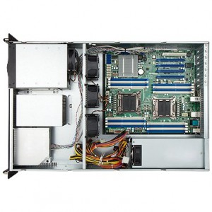 """IN WIN IW-R200 1.2mm SGCC 2U Rackmount Open-Bay Server Chassis with 500W PSU 2 External 5.25"""" Drive Bays"""