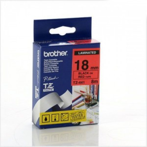 Brother 18MM Black on Red Laminated tape