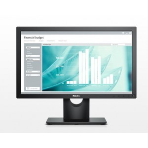 "Dell E1916H, 18.5"" LED,VGA &  DisplayPort  (1366x768) Black, 3YR NBD"