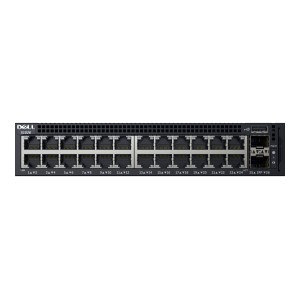 Dell Networking X1026 Smart Web Managed Switch, 24x 1GbE and 2x 1GbE SFP Ports