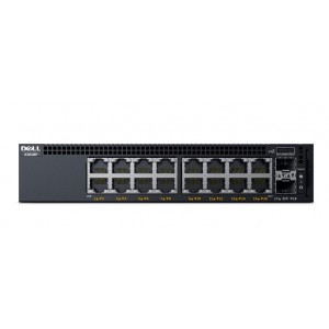 Dell Networking X1018P Smart Web Managed Switch (16x 1GbE POE and 2x 1GbE SFP Ports) (210-AEIL)