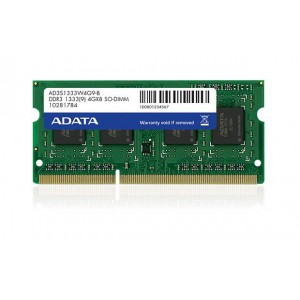 ADATA 2GB DDR3 1333 SO-DIMM SINGLE TRAY