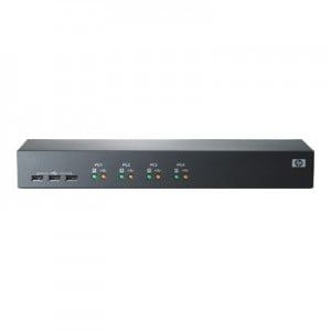 HP Server Console Switch 1x4 KVM Switch - 4 Ports - Rack-Mountable