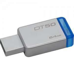 Kingston 64GB USB 3.0 DataTraveler 50 (Metal/Blue)