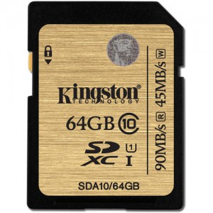 Kingston 64GB SDXC Class 10 UHS-I Ultimate Flash Card