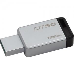 Kingston 128GB Datatraveler DT50 USB 3.0 Flash Drive (Black)