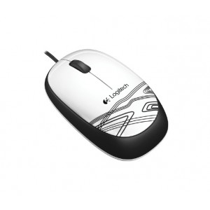 Logitech Mouse M105. It's the cool, colourful corded mouse at a comfortable price.