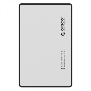 Orico 2.5' USB3.0 External Hard Drive Enclosure Silver (2588US3-V1-SV)