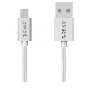 Orico Micro USB 1m Braided Charging Data Cable Silver (EDC-10-V1-SV)