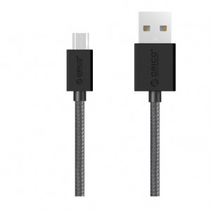 Orico Micro USB 1m Braided Charging Data Cable Black (MDC-10-V1-BK)
