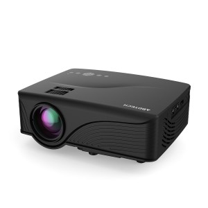Abdtech 1200 Lumens Mini LED Multimedia Home Theater Projector