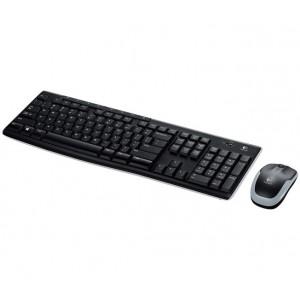 Logitech Wireless Desktop MK270 Keyboard and Mouse Combo Kit, USB 2.0, Black
