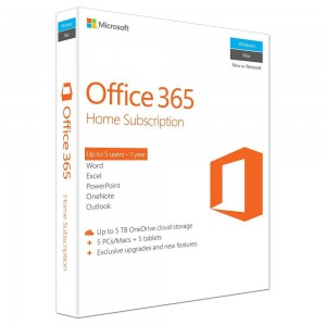 Microsoft Office 365 Home 32/64Bit English 1 Year Subscription
