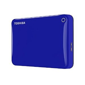 "Toshiba HDTC820EL3CA Canvio Connect II 2 TB External Hard Drive (HDD) (2.5"" (6.4 cm), USB 3.0) Blue"