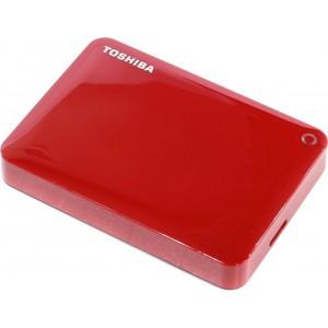 "Toshiba HDTC820ER3CA Canvio Connect II 2 TB External Hard Drive (HDD) (2.5"" (6.4 cm), USB 3.0) Red"