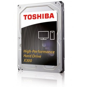 "Toshiba HDWE140EZSTA X300 7200rpm 3.5"" 4TB High-Performance Internal Hard Disk Drive (HDD)"