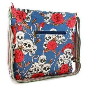 Tuff-Luv Ladies Lulu Mess. Bag for 10'' - Skull Bl