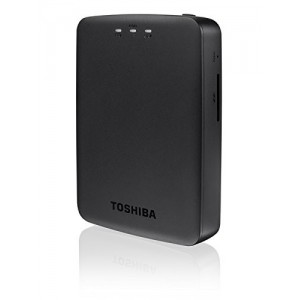Toshiba Canvio AeroCast HDTU110EKWC1 Wireless Portable External Hard Drive (HDD) (1 TB USB 3.0) - Black