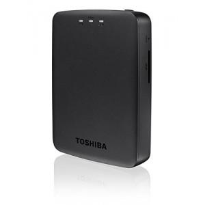 Toshiba Canvio AeroCast HDTU110EKWC1 Wireless Portable External Hard Drive (HDD) (1 TB USB 3.0) - Black