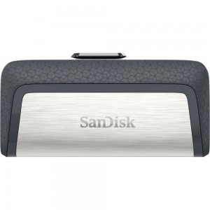SanDisk SDDDC2-016G-G46 16GB Ultra Dual USB Flash Drive Type C-Black/Silver