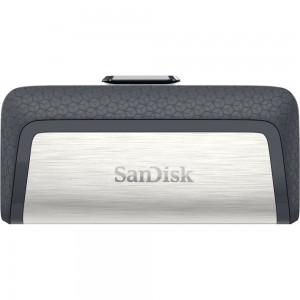 SanDisk SDDDC2-016G-G46 16GB Ultra Dual USB Flash Drive Type C-Black/Silver