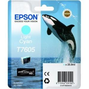 Epson T7605 Light Cyan Ink Cartridge for Epson SureColor SC-P600