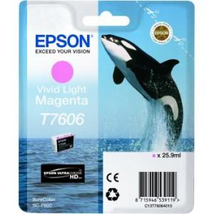 Genuine Vivid Light Magenta Epson T7606 Ink Cartridge