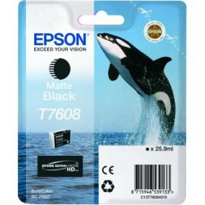 Epson T7608 Matte Black Ink Cartridge for Epson SureColor SC-P600