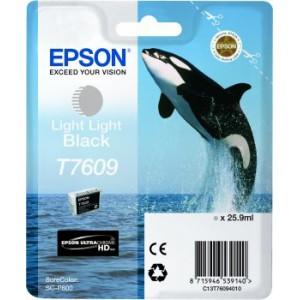 Epson T7609 Light Light Black Original Ink Cartridge for Epson SureColor SC-P600