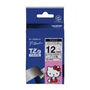 Brother 12MM Black on Hello Kitty Laminated tape (5m)