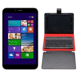 Proline W835G Black 8 Inch Windows 8.1 3G 16GB Tablet Bundle (Includes 8 Inch Tablet Case with Bluetooth Keyboard)