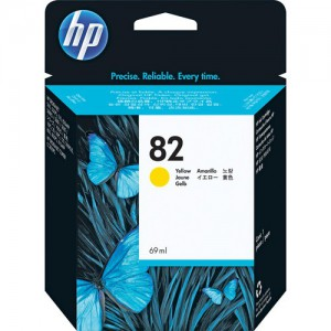 HP 82 Yellow Ink Cartridge (69ml) for DJ 500SP & 800SP Printers