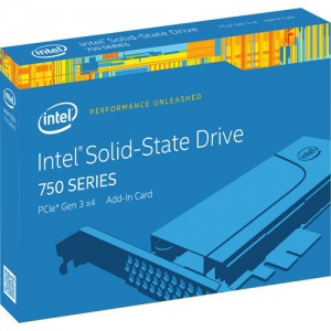 "Intel 400GB 750 Series 2.5"" NVM Express SSD with PCIe 3.0 Add-in-Card"