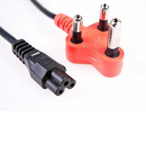 Power Cord (Clover to Plug) Red Plug
