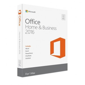 Microsoft Office Mac Home and Business 1 PK 2016 - No Media - English 1 License (1 User)*NEW