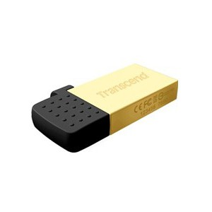 Transcend JetFlash™380 USB2.0 OTG Flash Drive 16GB Gold (Android)